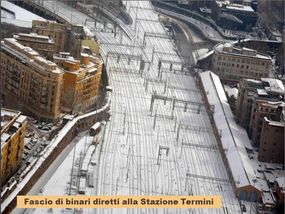 Fascio di binari diretti alla Stazione Termini