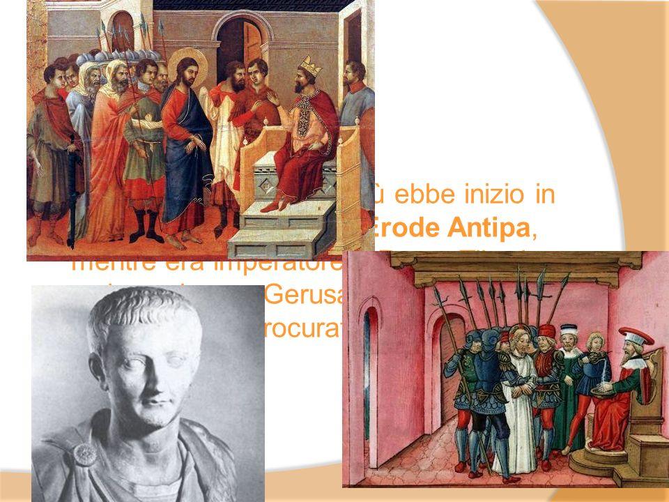 L'attività pubblica di Gesù ebbe inizio in Galilea sotto il regno di Erode Antipa, mentre era imperatore a Roma Tiberio, e si concluse a Gerusalemme allora governata dal procuratore romano Ponzio Pilato.