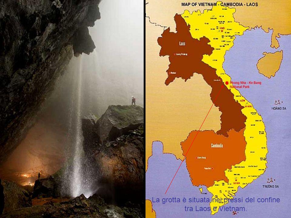 La grotta è situata nei pressi del confine
