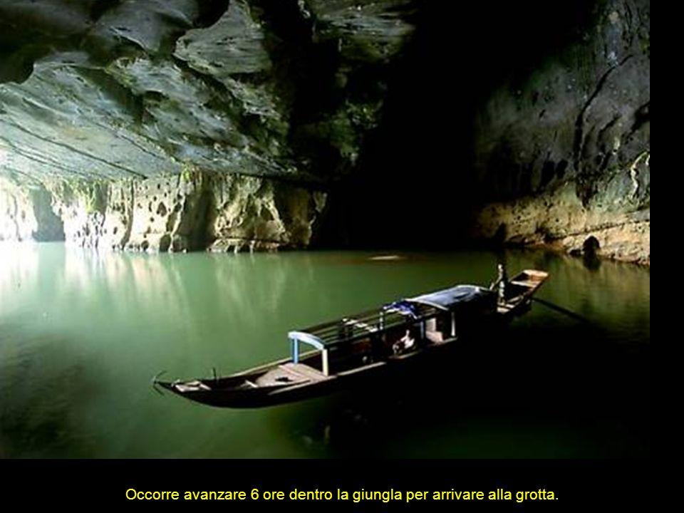 Occorre avanzare 6 ore dentro la giungla per arrivare alla grotta.