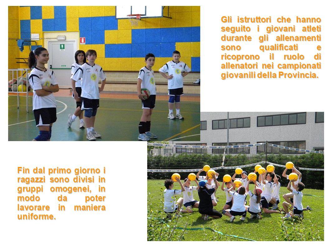 Gli istruttori che hanno seguito i giovani atleti durante gli allenamenti sono qualificati e ricoprono il ruolo di allenatori nei campionati giovanili della Provincia.