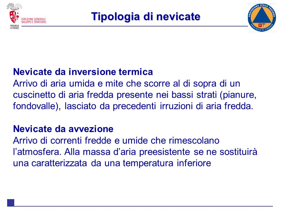 Tipologia di nevicate Nevicate da inversione termica