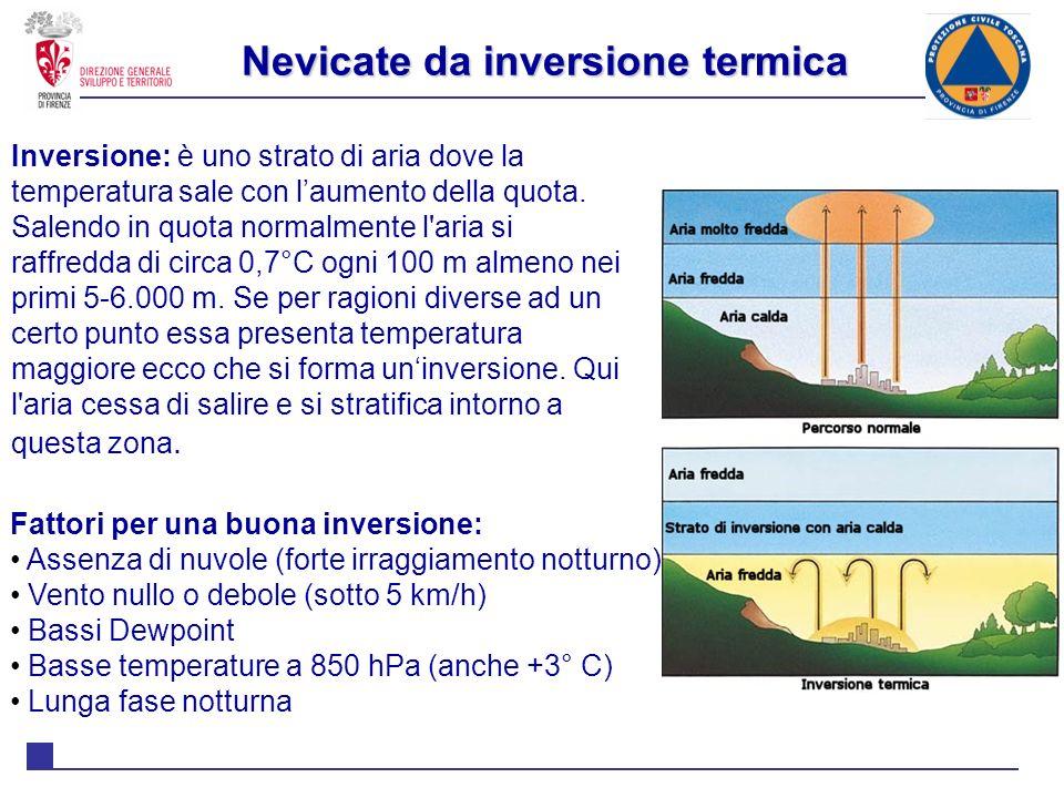 Nevicate da inversione termica