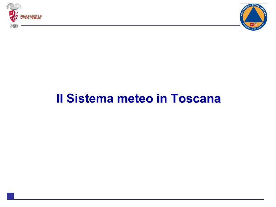 Il Sistema meteo in Toscana