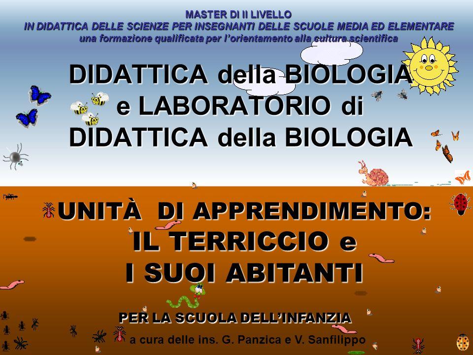 DIDATTICA della BIOLOGIA e LABORATORIO di DIDATTICA della BIOLOGIA