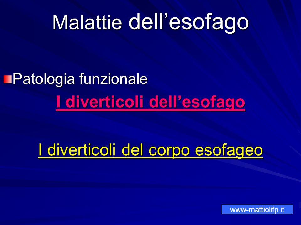 Malattie dell'esofago