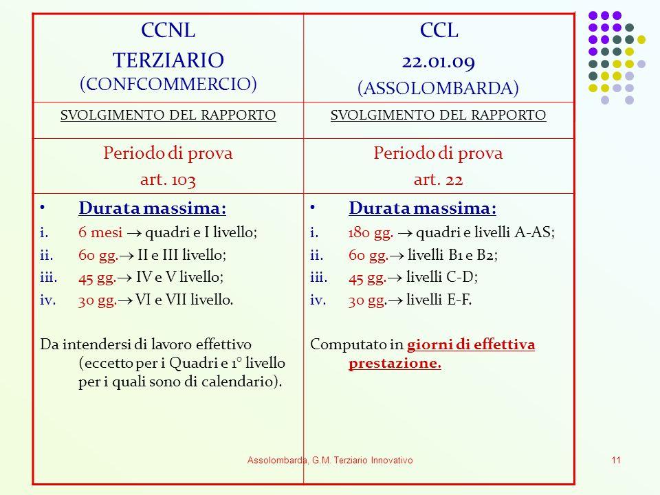TERZIARIO (CONFCOMMERCIO) CCL 22.01.09