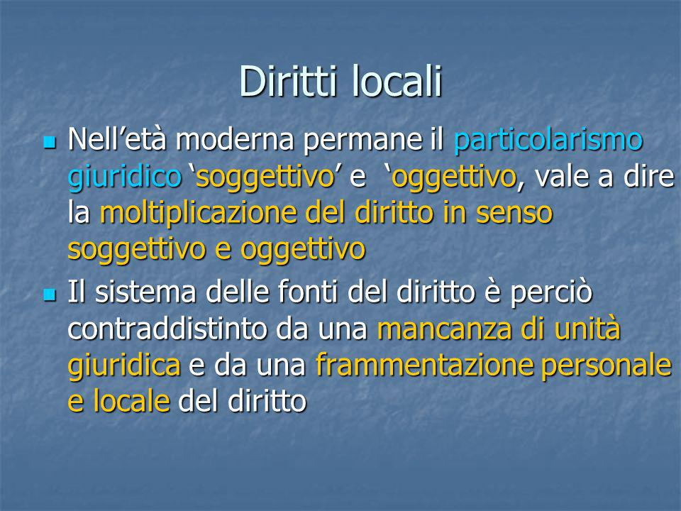Diritti locali