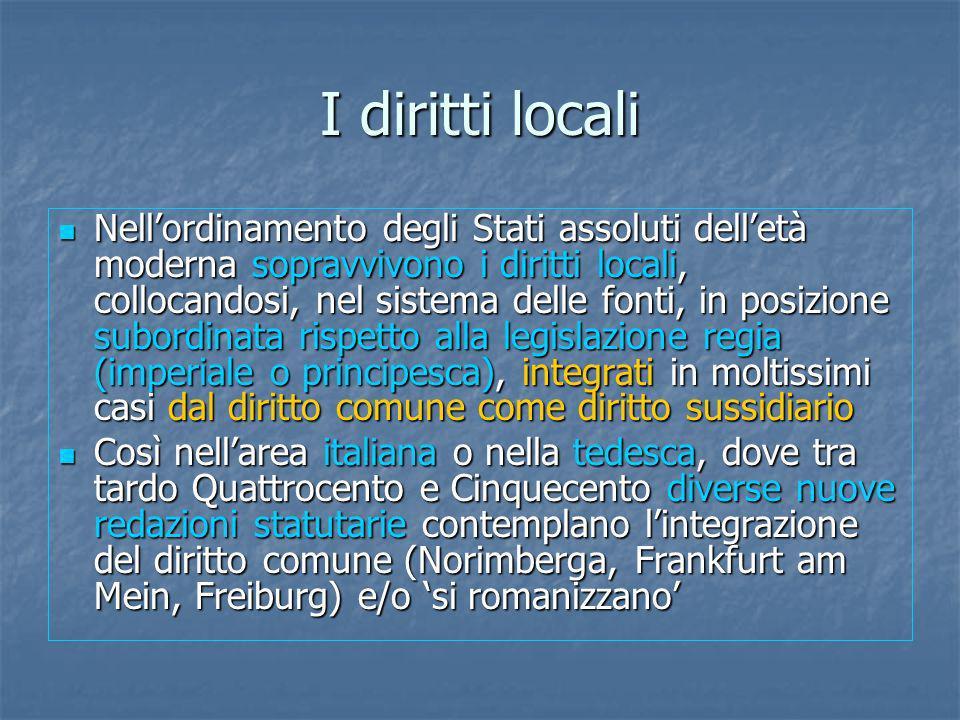 I diritti locali