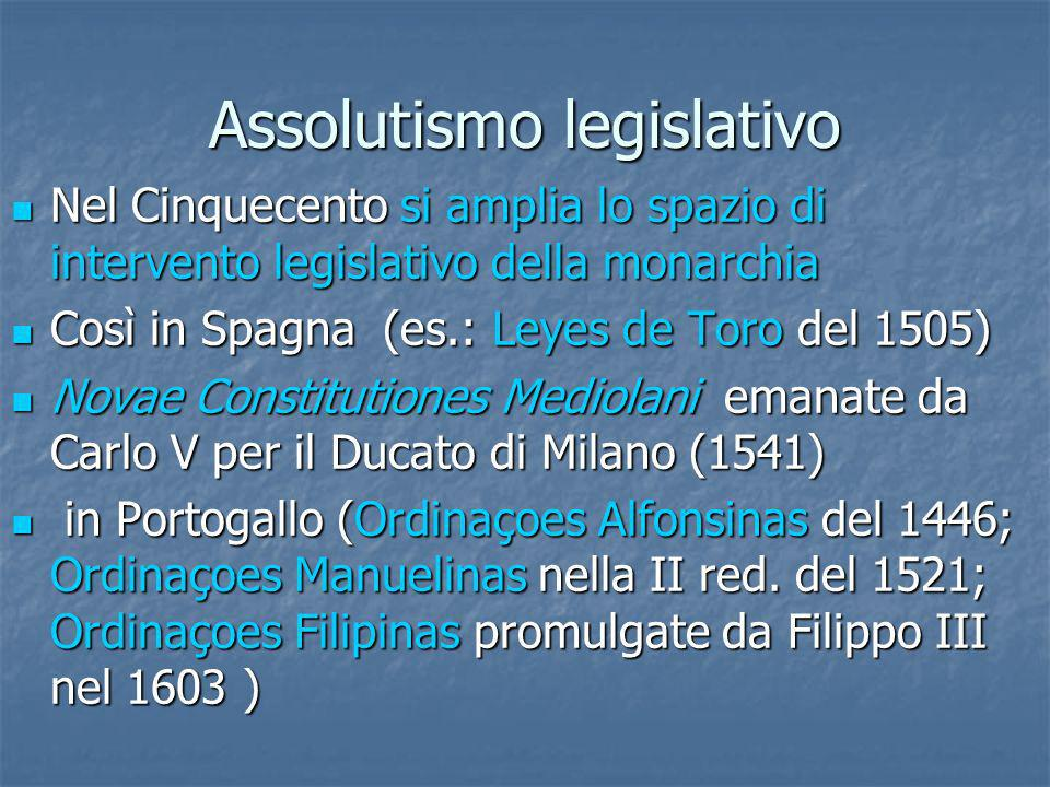 Assolutismo legislativo