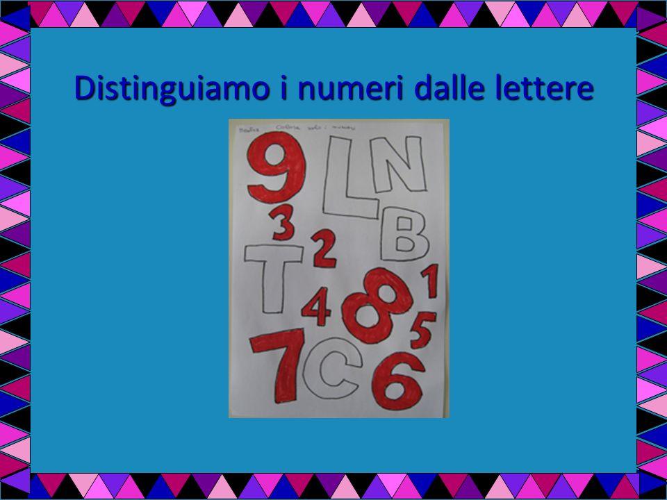 Distinguiamo i numeri dalle lettere
