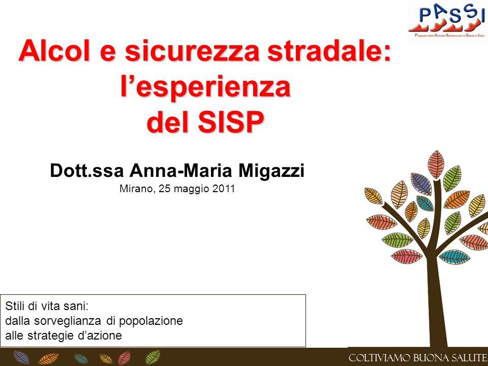 Alcol e sicurezza stradale: l'esperienza Dott.ssa Anna-Maria Migazzi