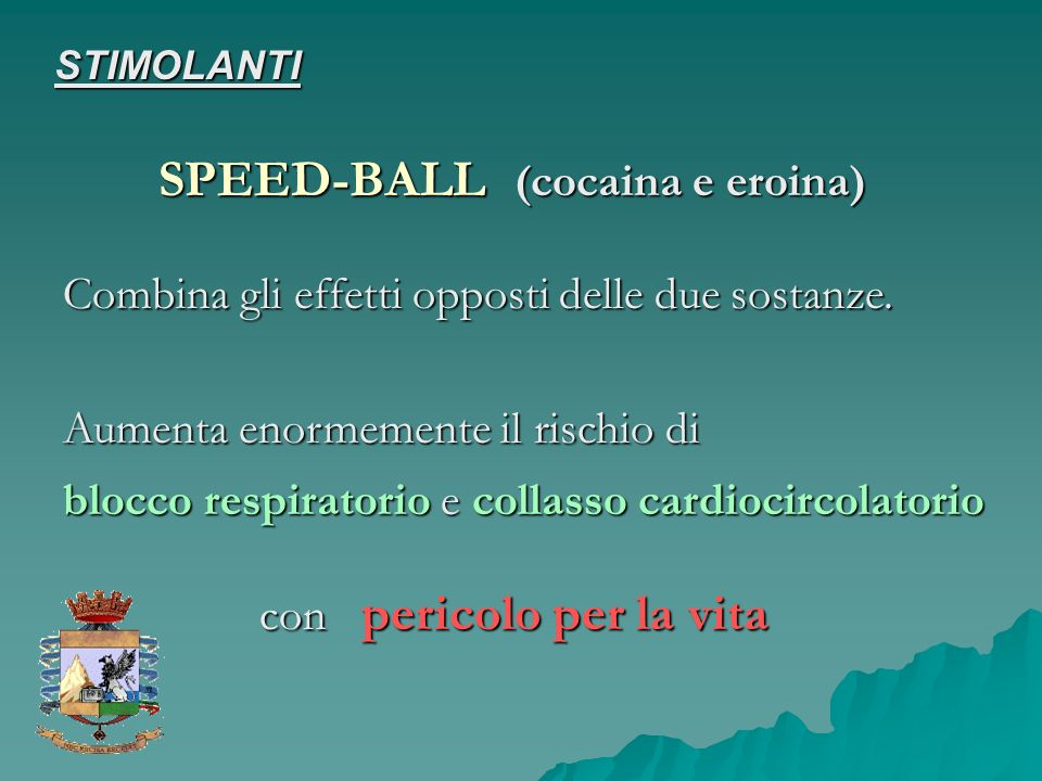 SPEED-BALL (cocaina e eroina)