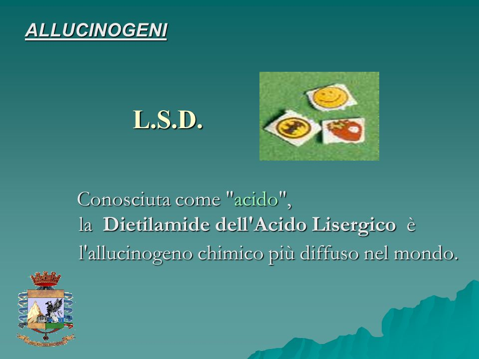 ALLUCINOGENI L.S.D.