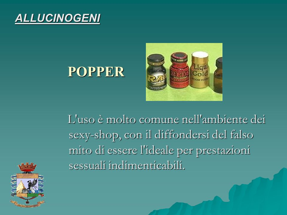 ALLUCINOGENI POPPER.