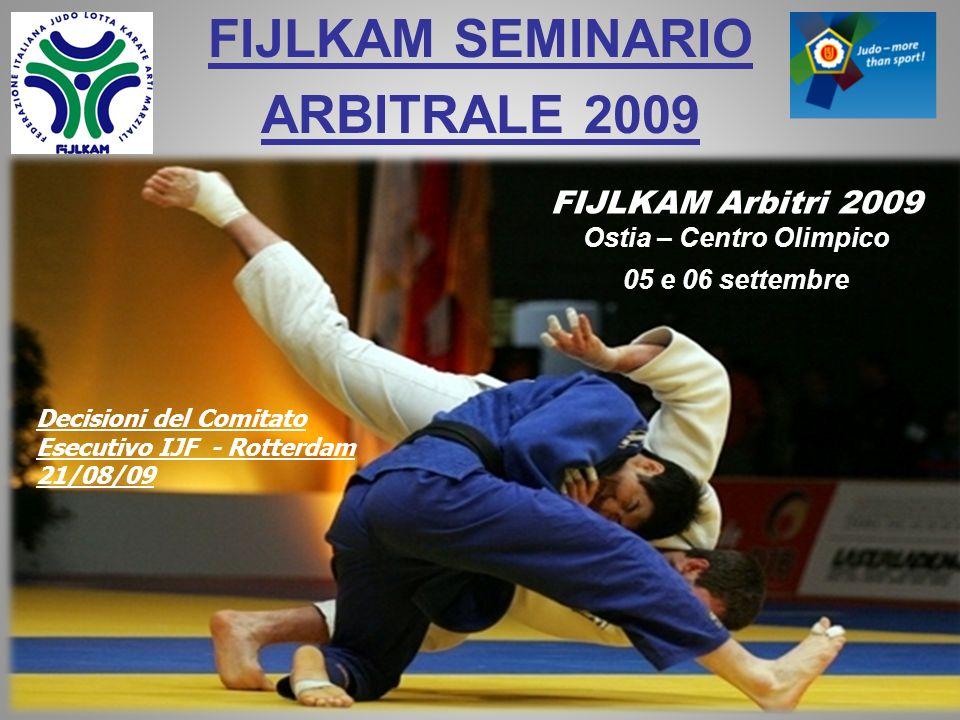 FIJLKAM SEMINARIO ARBITRALE 2009