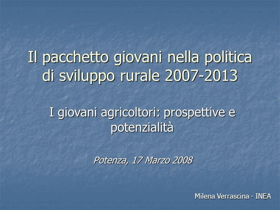 Il pacchetto giovani nella politica di sviluppo rurale 2007-2013