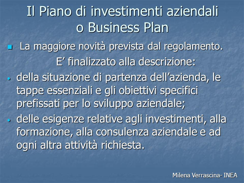 Il Piano di investimenti aziendali o Business Plan