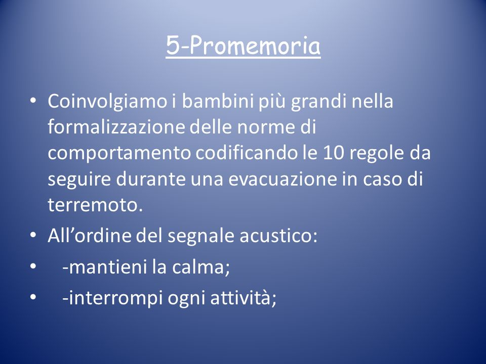5-Promemoria