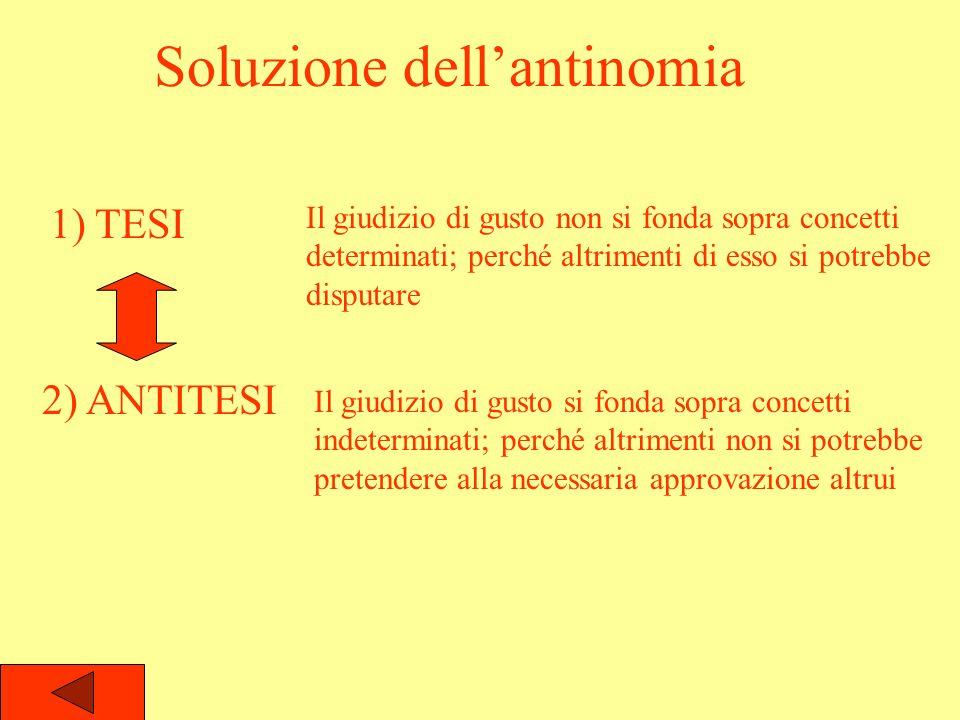 Soluzione dell'antinomia