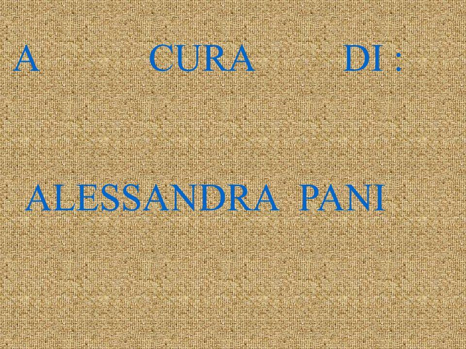 A CURA DI : ALESSANDRA PANI