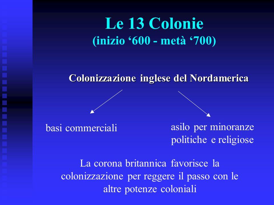 Le 13 Colonie (inizio '600 - metà '700)