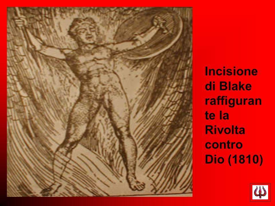 Incisione di Blake raffigurante la Rivolta contro Dio (1810)