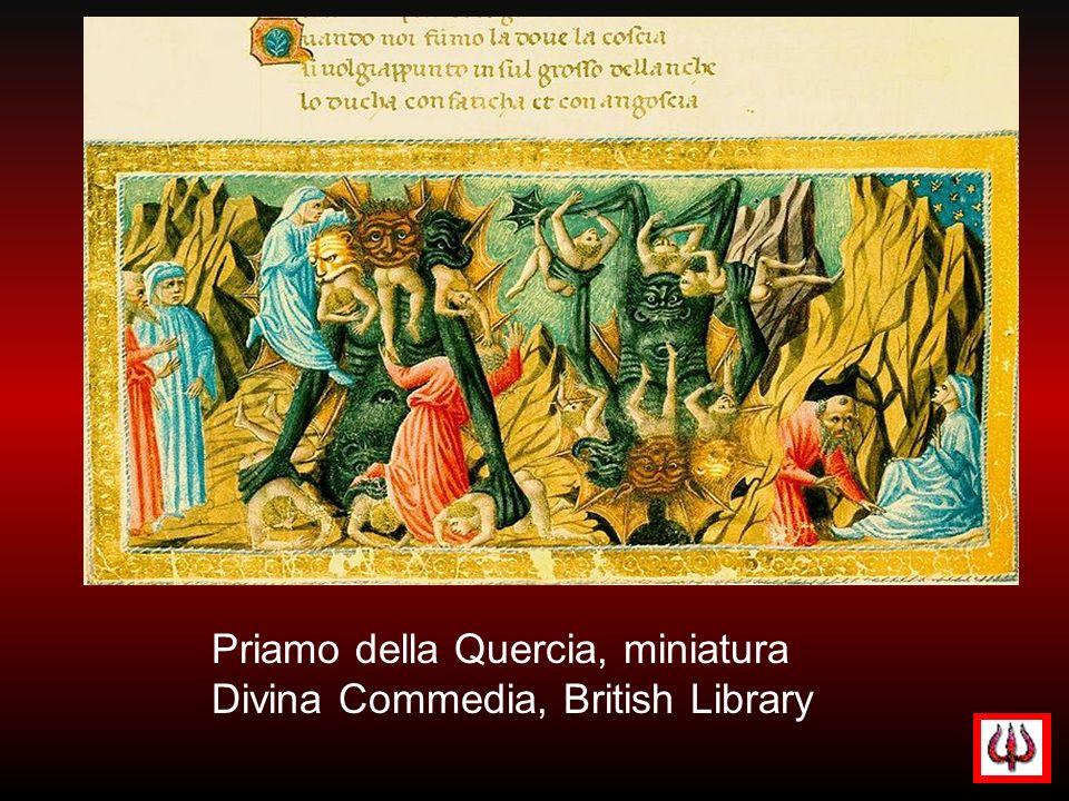 Priamo della Quercia, miniatura Divina Commedia, British Library