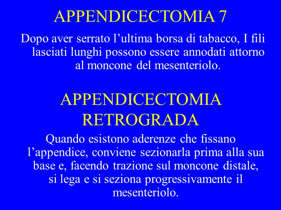 APPENDICECTOMIA RETROGRADA