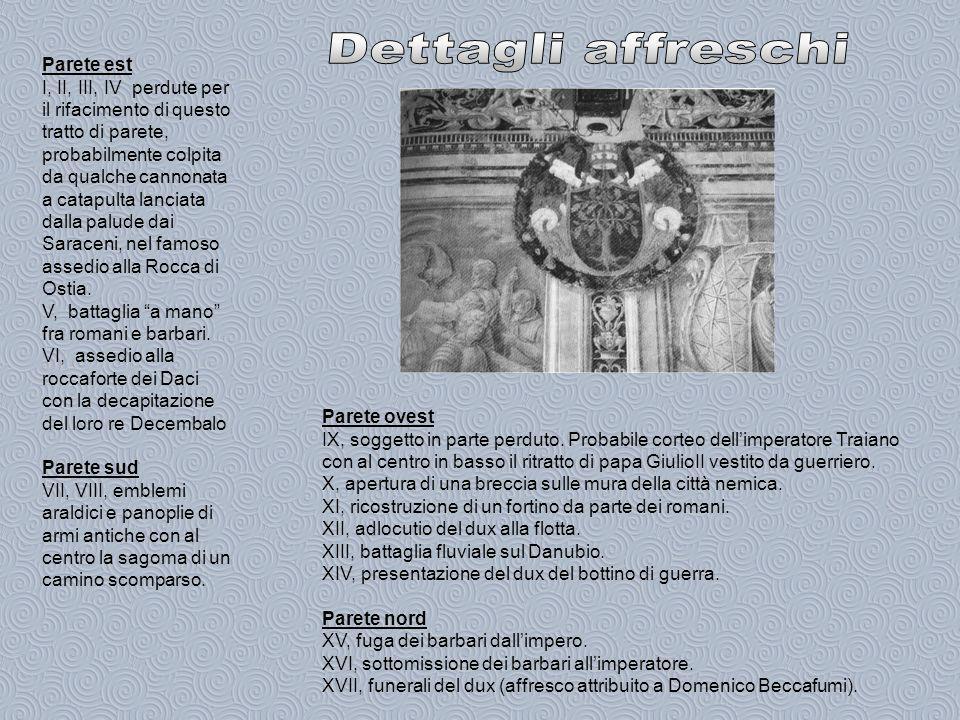 Dettagli affreschi Parete est