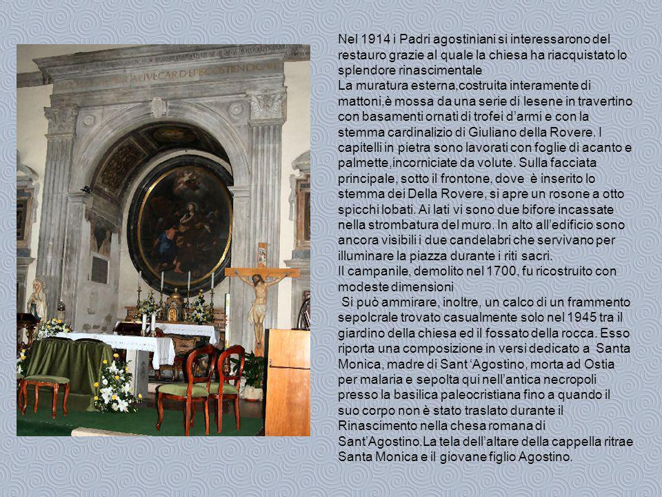 Nel 1914 i Padri agostiniani si interessarono del restauro grazie al quale la chiesa ha riacquistato lo splendore rinascimentale