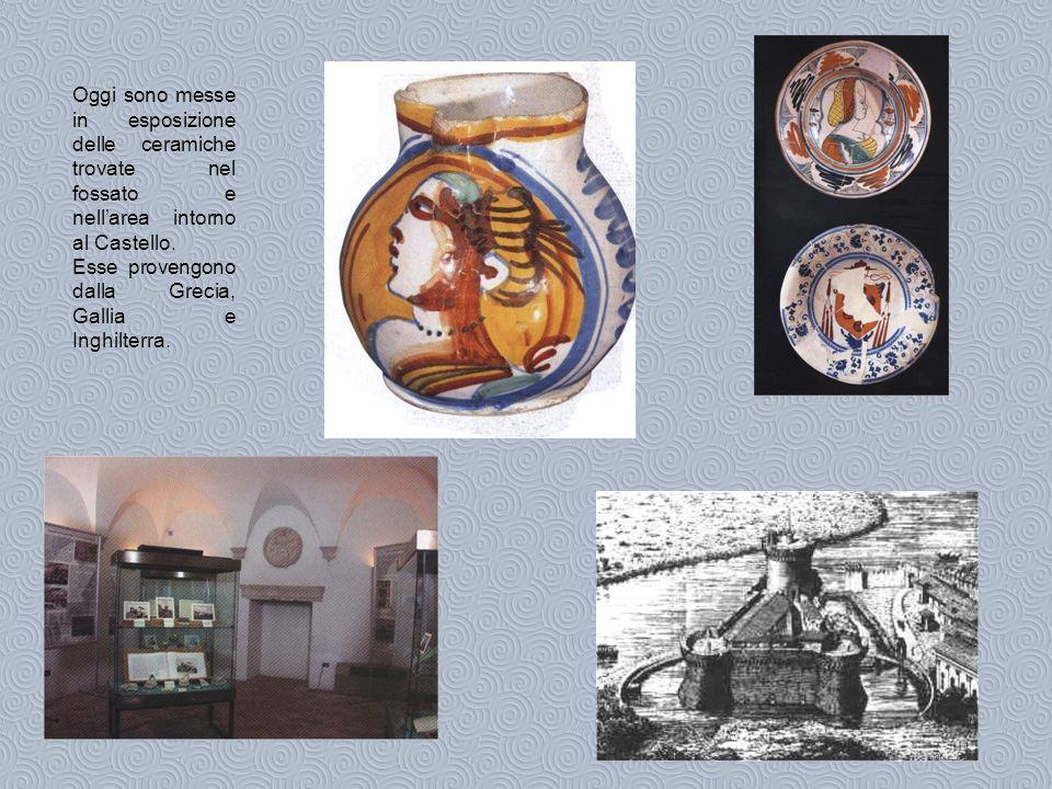 Oggi sono messe in esposizione delle ceramiche trovate nel fossato e nell'area intorno al Castello.