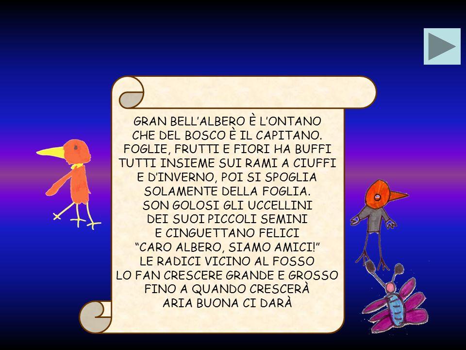 GRAN BELL'ALBERO È L'ONTANO CHE DEL BOSCO È IL CAPITANO.