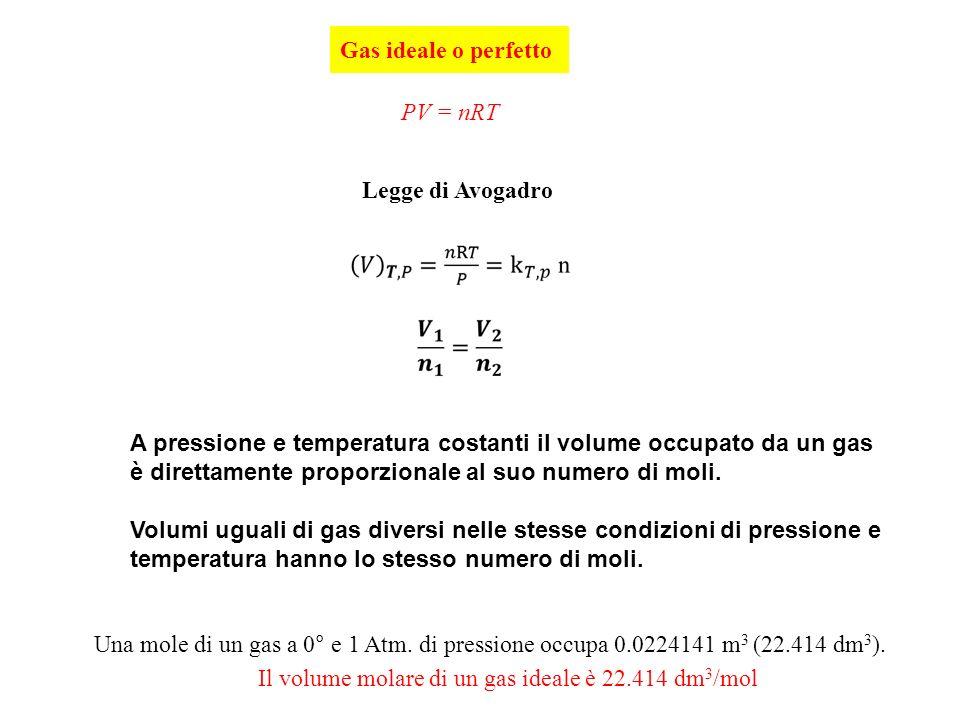 Lo stato gassoso nello stato gassoso le forze di coesione fra le particelle elementari atomi o - Volumi uguali di gas diversi ...