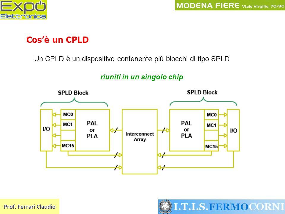 Un CPLD è un dispositivo contenente più blocchi di tipo SPLD