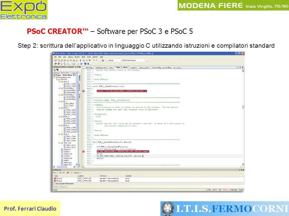 PSoC CREATOR™ – Software per PSoC 3 e PSoC 5