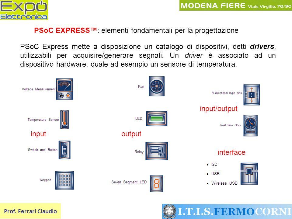 PSoC EXPRESS™: elementi fondamentali per la progettazione