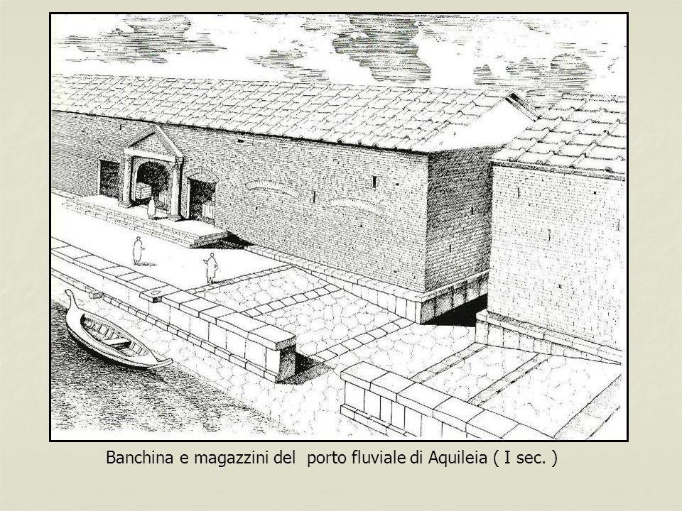 Banchina e magazzini del porto fluviale di Aquileia ( I sec. )