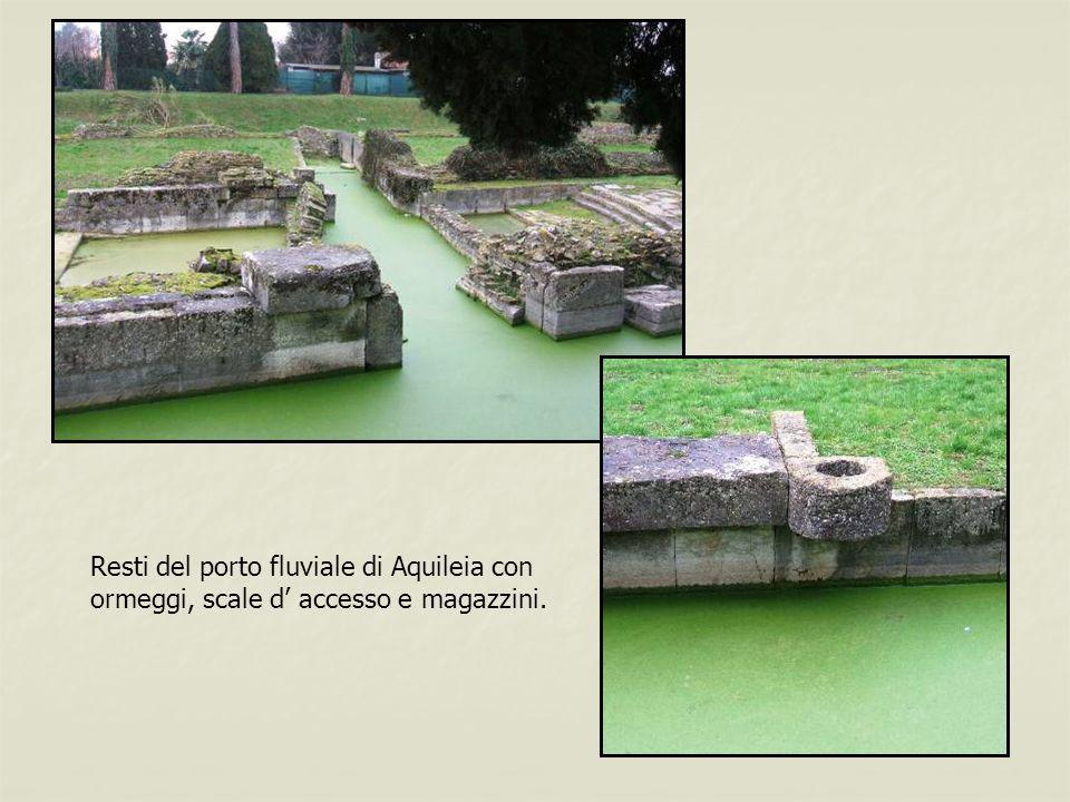 Resti del porto fluviale di Aquileia con