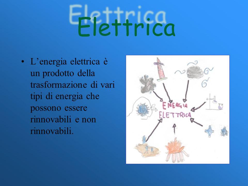 Elettrica L'energia elettrica è un prodotto della trasformazione di vari tipi di energia che possono essere rinnovabili e non rinnovabili.