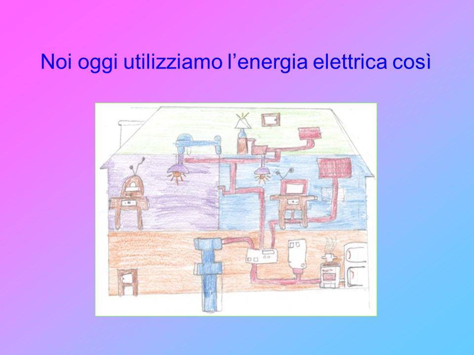 Noi oggi utilizziamo l'energia elettrica così