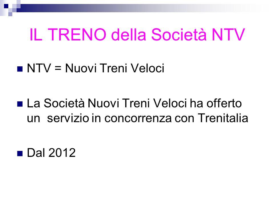 IL TRENO della Società NTV