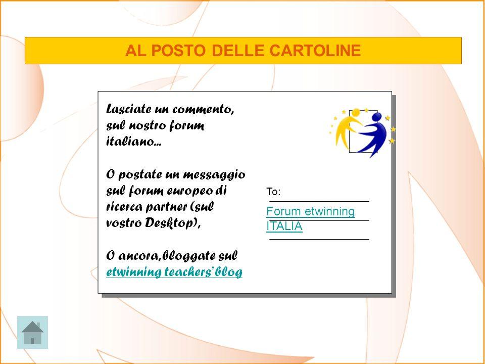 AL POSTO DELLE CARTOLINE