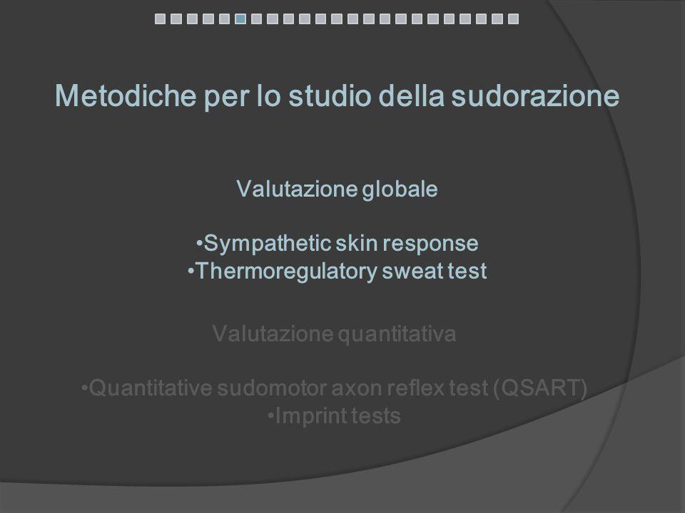 Metodiche per lo studio della sudorazione