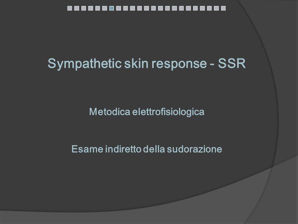 Sympathetic skin response - SSR