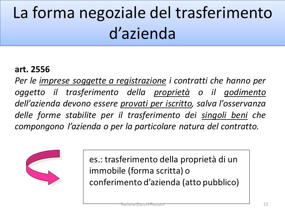 La forma negoziale del trasferimento d'azienda