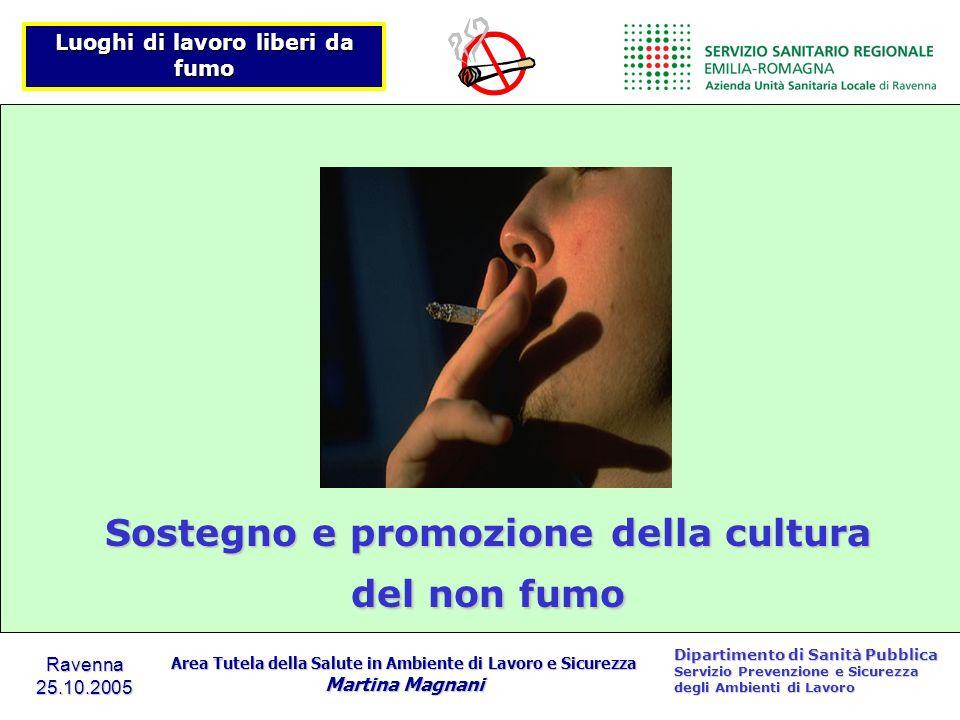 Sostegno e promozione della cultura del non fumo