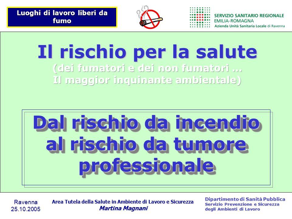 Dal rischio da incendio al rischio da tumore professionale