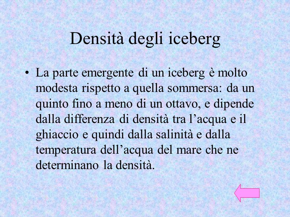 Densità degli iceberg
