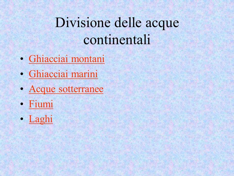 Divisione delle acque continentali